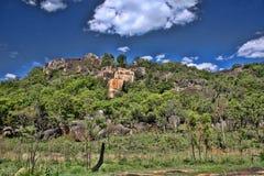Mooie rotsachtige vormingen van het Nationale Park van Matopos, Zimbabwe stock afbeelding