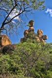 Mooie rotsachtige vormingen van het Nationale Park van Matopos, Zimbabwe royalty-vrije stock afbeeldingen