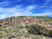 Mooie rotsvormingen in Nevada royalty-vrije stock foto's