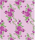 Mooie Roze Bloemen patroonachtergrond voor textiel Stock Foto