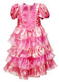 Mooie roze kleding voor meisje dat op wit wordt geïsoleerdg Royalty-vrije Stock Foto