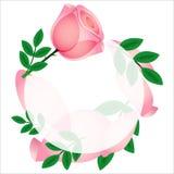 Mooie roze nam kaart toe, Stock Afbeeldingen