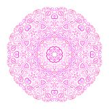 Mooie roze sierachtergrond Stock Afbeelding
