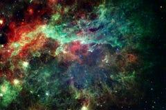 Mooie ruimteachtergrond Cosmocart. Elementen van dit die beeld door NASA wordt geleverd vector illustratie