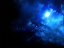 Mooie ruimtescène met sterren en nevel Stock Foto's