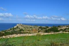 Mooie scène in Mellieha in Malta Stock Foto's