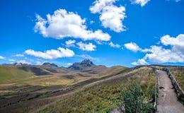 Mooie scène van de Ecuatoriaanse Andes Royalty-vrije Stock Foto's