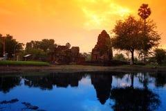 Mooie Schemering Pang Ku Reflect op het water, Pang Ku stock foto's