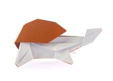 Mooie schildpad van origami Stock Fotografie