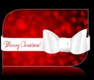 Mooie schitterende de giftkaart van Kerstmis Royalty-vrije Stock Afbeeldingen