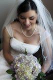 Mooie schuwe bruid Royalty-vrije Stock Foto