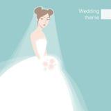 Mooie schuwe bruid Stock Afbeelding