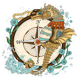 Mooie seahorse stock illustratie