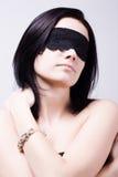 Mooie sensuele donkerbruine vrouw Stock Foto's