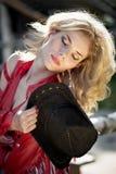 Mooie sexy blondeveedrijfster Stock Afbeelding