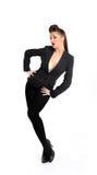 Mooie mannequin in formeel kostuum Stock Foto
