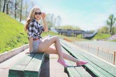 Mooie sexy meisjes modieuze hipster Royalty-vrije Stock Afbeeldingen