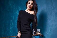 Mooie sexy van de de make-upslijtage van het vrouwen mooie gezicht de manierstijl Stock Fotografie