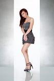 Mooie sexy vrouw in aantrekkingskrachtkleding Stock Fotografie