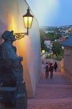 Mooie sidestreet van Praag royalty-vrije stock foto