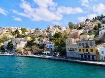 Mooie Simi, Symi, Griekenland stock afbeelding
