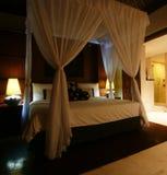 Mooie slaapkamer royalty-vrije stock afbeelding