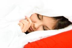 Mooie slaapvrouw royalty-vrije stock foto's