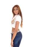 Mooie slanke jonge vrouw Stock Afbeelding