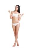 Mooie slanke vrouw in lingerie Stock Afbeelding