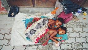 Mooie slechte jonge geitjes van Katmandu Royalty-vrije Stock Fotografie