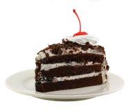Mooie smakelijke chocoladecake Stock Foto
