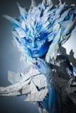 Mooie sneeuwkoningin Royalty-vrije Stock Afbeeldingen