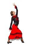 Mooie Spaanse danser. Stock Afbeelding