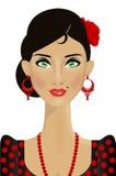 Mooie Spaanse vrouw vector illustratie
