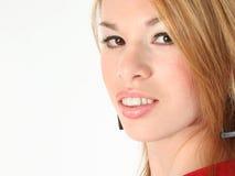 Mooie Spaanse Vrouw in de Stijl Makeup van Jaren '60 Stock Afbeeldingen