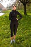 Mooie sportsgirl royalty-vrije stock foto