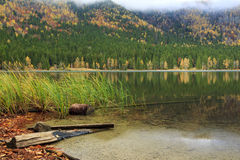 Mooie St Ana Lake in Transsylvanië, Roemenië Stock Foto's