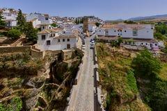 Mooie stad van Ronda, Spanje, landschap Royalty-vrije Stock Foto