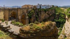 Mooie stad van Ronda, Spanje, landschap Royalty-vrije Stock Fotografie