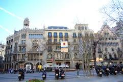 Mooie stedelijke architectuur, Barcelona royalty-vrije stock afbeelding