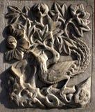Mooie steengravure Stock Foto's