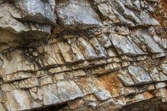 Mooie steentextuur op het strand in Albanië royalty-vrije stock fotografie
