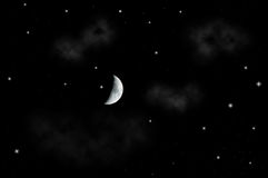 Mooie sterrige nachthemel Stock Fotografie