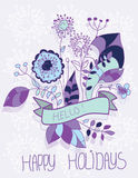 Mooie stevige achtergrond met bloemen Stock Foto's