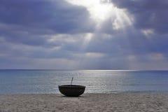Mooie straal van licht Stock Foto