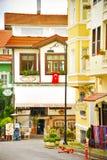 Mooie straat van Istanboel Turkije, de architectuurconcept van het toeristenbezoek Stock Afbeelding