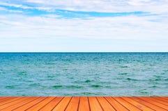 Mooie Strand Oceaanmening Royalty-vrije Stock Foto's