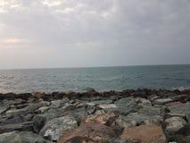 Mooie strandmening stock afbeeldingen