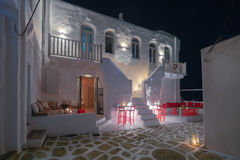 Mooie straten van Paros stock foto's
