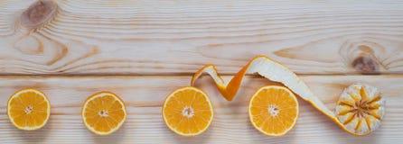 Mooie strook van mandarijnen Royalty-vrije Stock Afbeelding